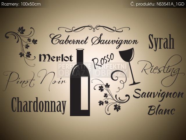 Nálepka na stenu Druhy vín 100x50cm NS3541A_1GD