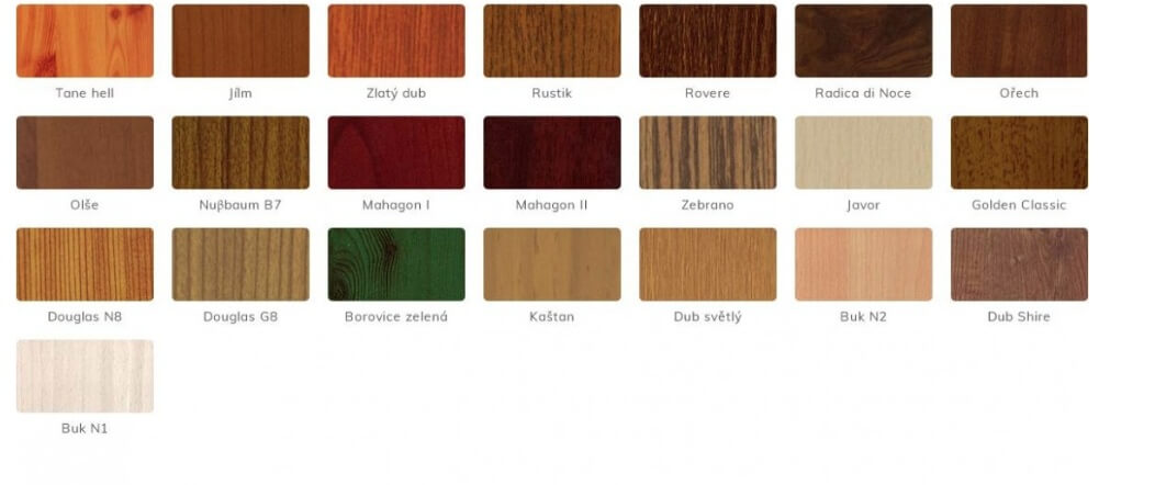 Rôzne dekory dreva pre hliníkové ploty NOVAVISIO. Zdroj: www.sunsystem.sk