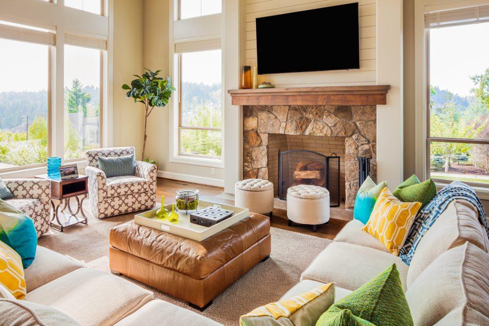 Dekorácie v obývačke